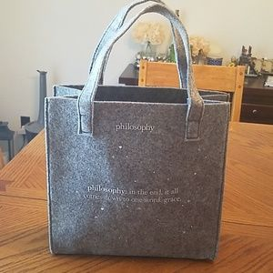 Philosophy small tote/gift bag